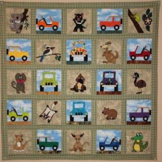 Down Under Australian Animals Quilt Pattern by Ms P Designs USA