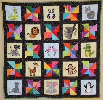 A Day at the Zoo Quilt Pattern by Ms P Designs USA
