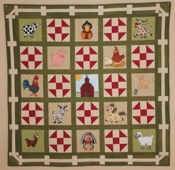 Down on the Farm Quilt Pattern by Ms P Designs USA