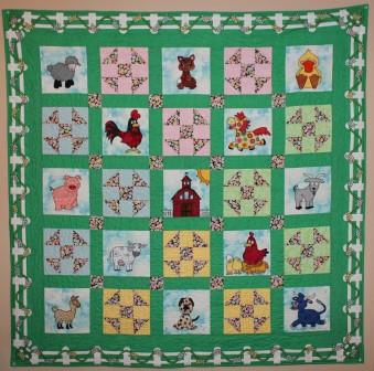 Fancy Farm Quilt Pattern by Ms P Designs USA