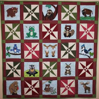 Forest Frolic Quilt pattern by Ms P Designs USA