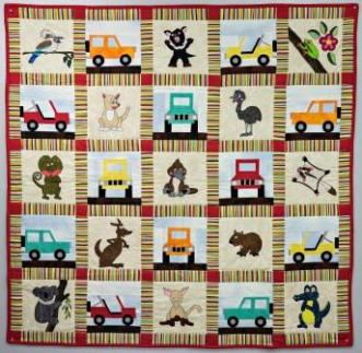 Down Under Austrailian Animals Quilt Pattern by Ms P Designs USA