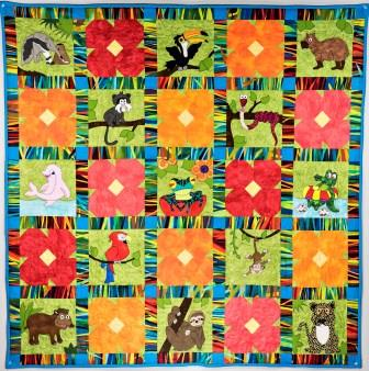 Jumpin Jungle Quilt pattern by Ms P Designs USA