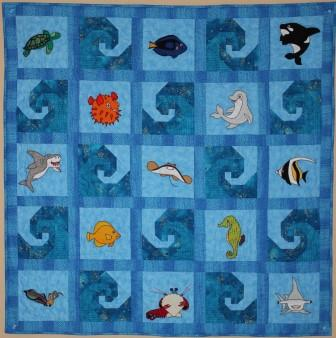 Reef Buddies, quilt pattern by Ms P Designs USA