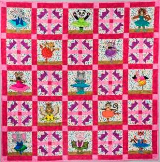 Sharon's Animal Ballerina quilt; pattern by Ms P Designs USA