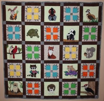 Woodland Pals Quilt Pattern by Ms P Designs USA