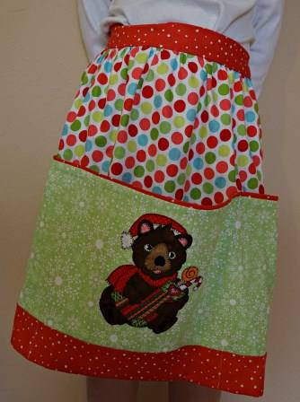 Bear-y Merry Christmas Apron by Ms P Designs USA