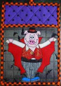 Count Porkula Hot Pad by Ms P Designs USA