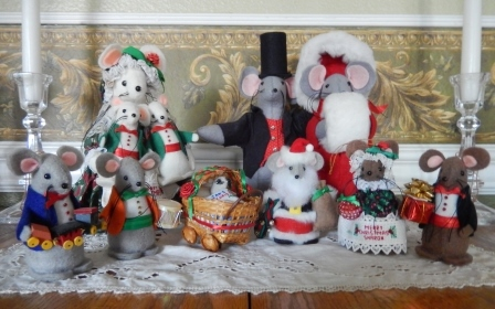 Mouse Christmas Ornaments by Susan of Ms P Designs USA