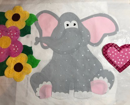 Elephant applique w no sewing