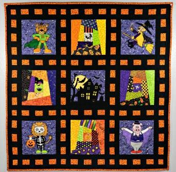 Trick or Treat Halloween Quilt 2017 by Ms P Designs USA
