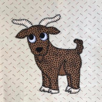 Goat applique by Ms P Designs USA
