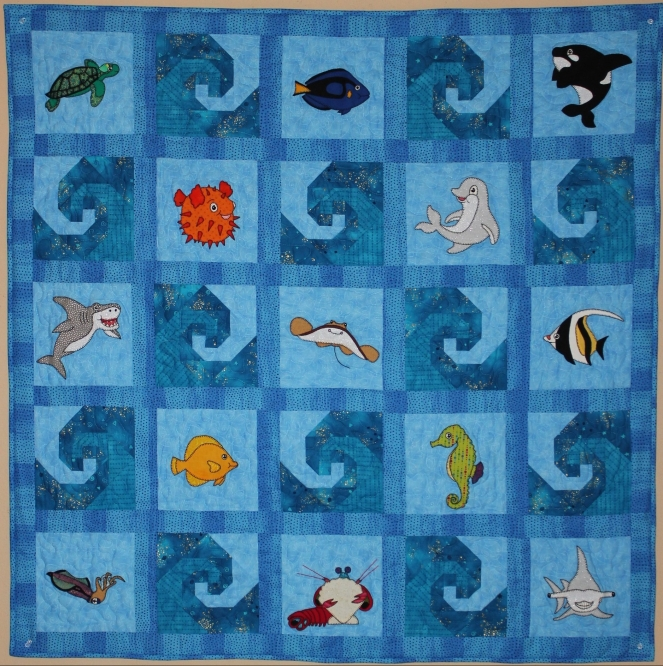 Reef Buddies Quilt pattern by Ms P Designs USA