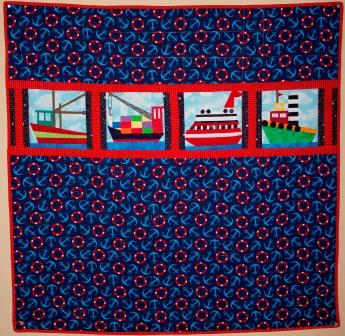 Ships Quilt by Ms P Designs USA