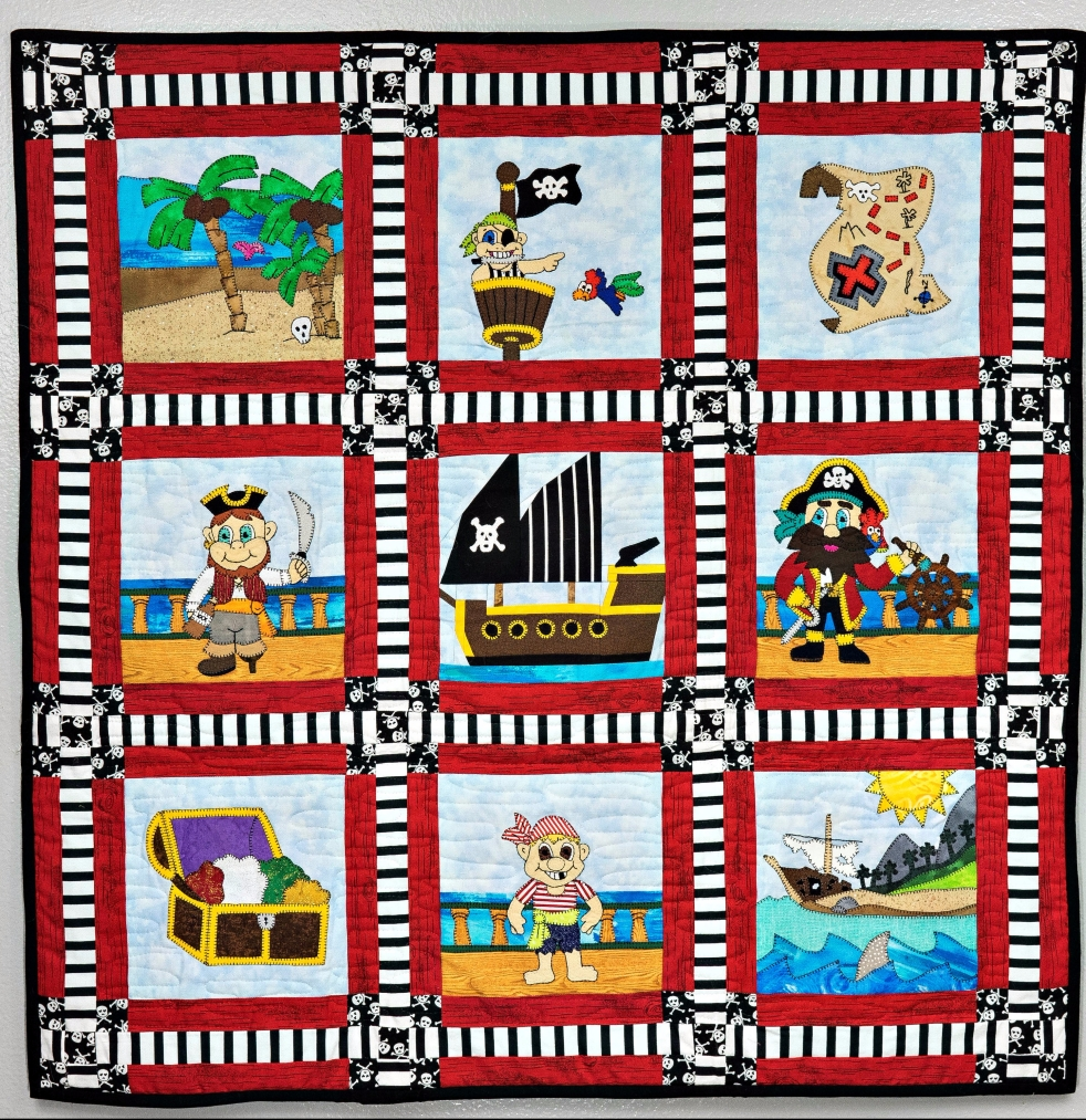Pirate quilt made by Sharon, Ms P Designs USA
