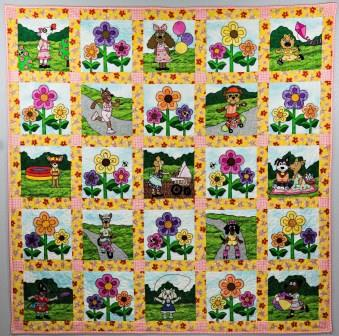 Puppy park girls quilt pattern by Ms Designs USA