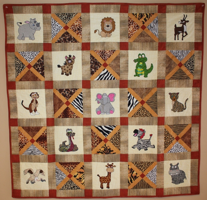 Safari Animal Quilt Pattern by Ms P Designs USA