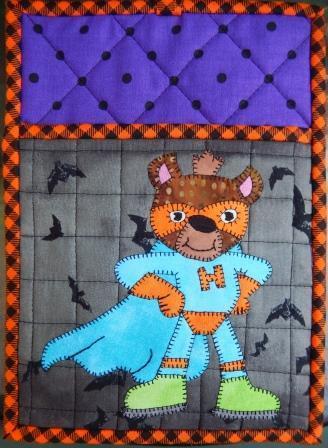 Superhero Hyena Hot Pad by Ms P Designs USA