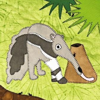 Anteater Applique by Ms P Designs USA
