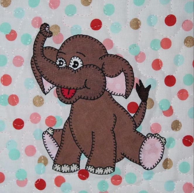 Asian elephant applique by Ms P Designs USA