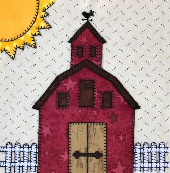Big Red Barn applique by Ms P Designs USA