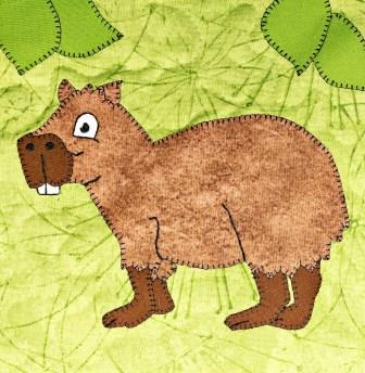 Capybara Applique by Ms P Designs USA
