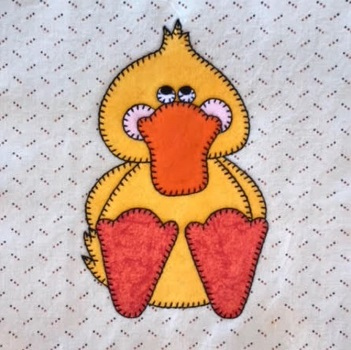 Duck applique by Ms P Designs USA