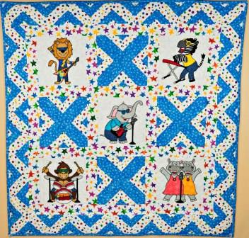 Wild Bunch Band quilt pattern by Ms P Designs USA