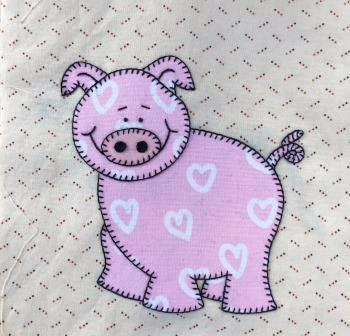 Pig applique by Ms P Designs USA