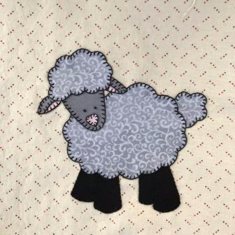 Lamb applique by Ms P Designs USA