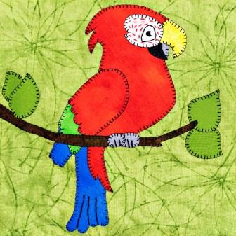 Macaw Applique by Ms P Designs USA