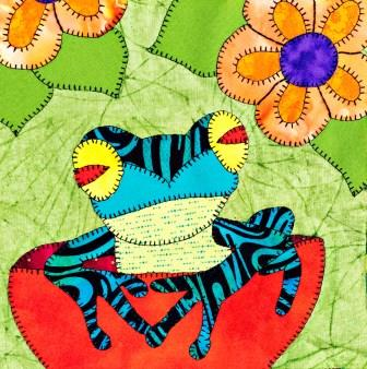 Poison Dart Frog Applique by Ms P Designs USA