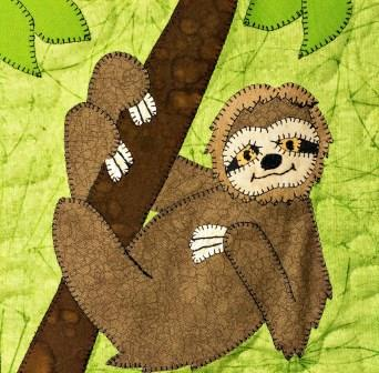 Sloth Applique by Ms P Designs USA