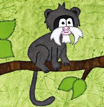 Emperor Tamarin Applique by Ms P Designs USA