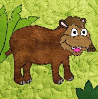 Tapir Applique by Ms P Designs USA