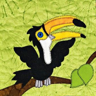 Toucan Applique by Ms P Designs USA
