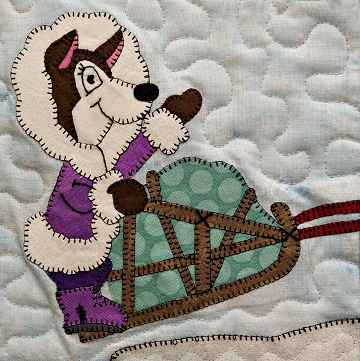 Musher Husky Applique Block Pattern