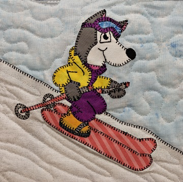 Ski Husky Applique Block Pattern