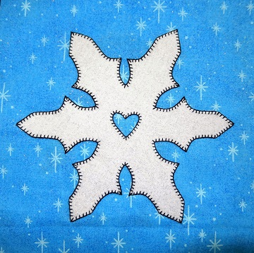 Snowflake Applique by Ms P Designs USA