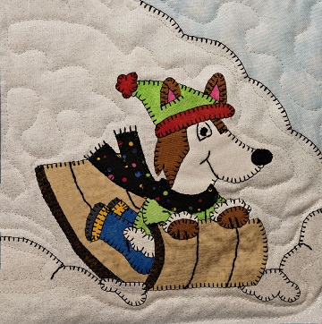 Toboggan Husky Applique Block Pattern