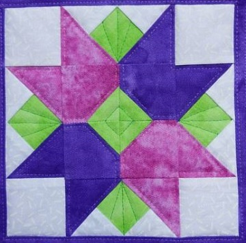 Tulip Basket Pieced Block by Ms P Designs USA