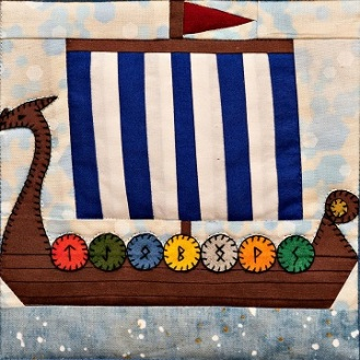 Viking dragon boat pattern by Ms P Designs USA