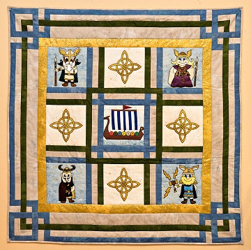 Viking Gods Quilt by Ms P Designs USA