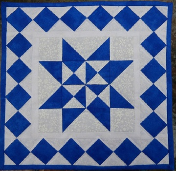 Snowflake Miniature Quilt by Ms P Designs USA
