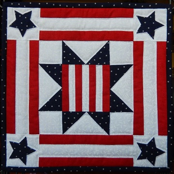 Patriotic Star Miniature Quilt Pattern by Ms P Designs USA