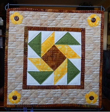 Star Flower Miniature Quilt by Ms P Designs USA