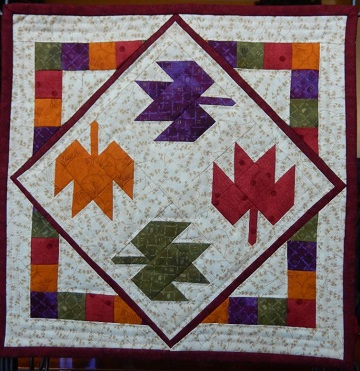 Tumbling Leaves Miniature Quilt by Ms P Designs USA