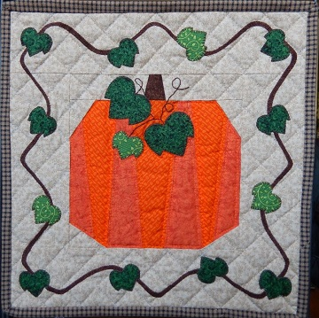 Pumpkin Miniature Quilt by Ms P Designs USA