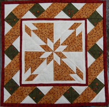 Hunter's Star Miniature Quilt Pattern by Ms P Designs USA