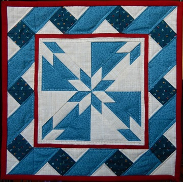 Hunter's Star Miniature Quilt Pattern in Blues by Ms P Designs USA